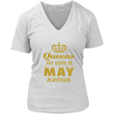 Queens Are Born In May T-Shirt - Trendsy Tees