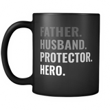 Father Husband Protector Hero Mug - Trendsy Tees