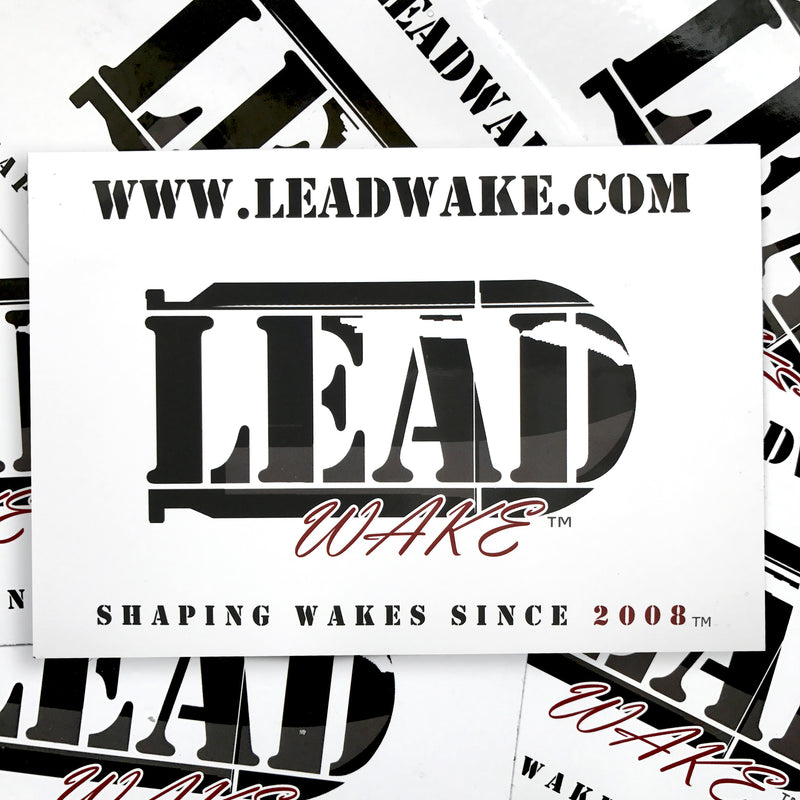 LEAD WAKE 3 Pack Stickers