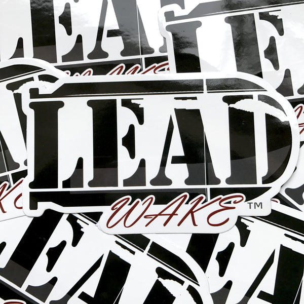 LEAD WAKE 3 Pack Logo Sticker