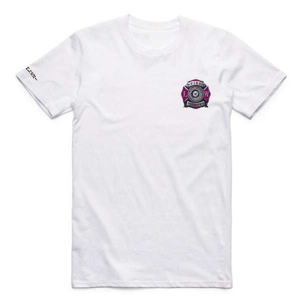 MEN Breast Cancer T-Shirt Awareness - White