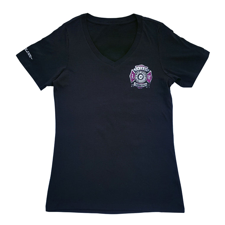 WOMEN Breast Cancer Awareness T-Shirt - Black