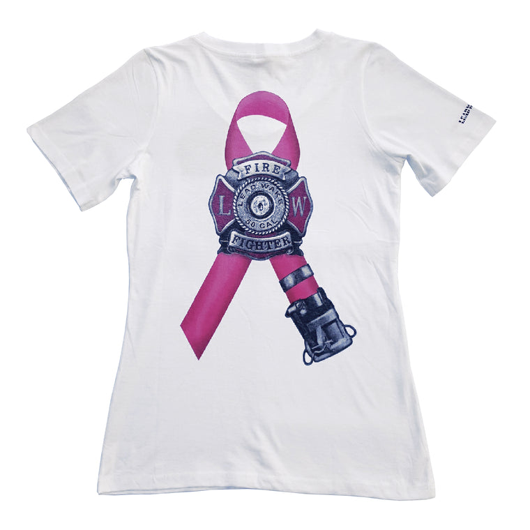 WOMEN Breast Cancer T-Shirt Awareness - White