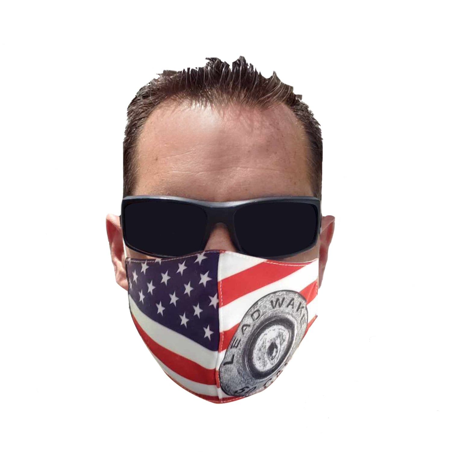 Lead Wake Red White Blue <br>Stars & Stripes Mask