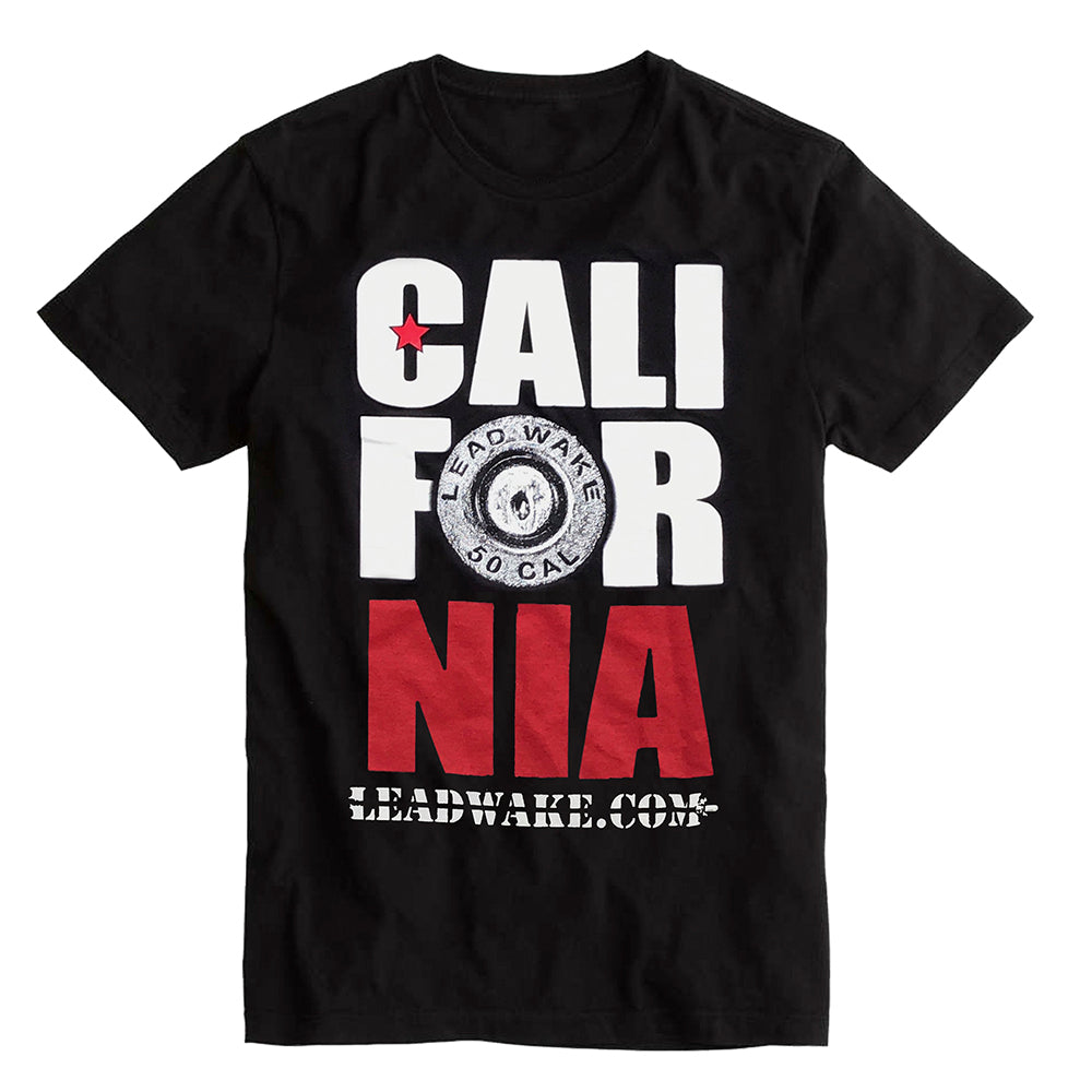Lead Wake California <br> T-Shirt in Black