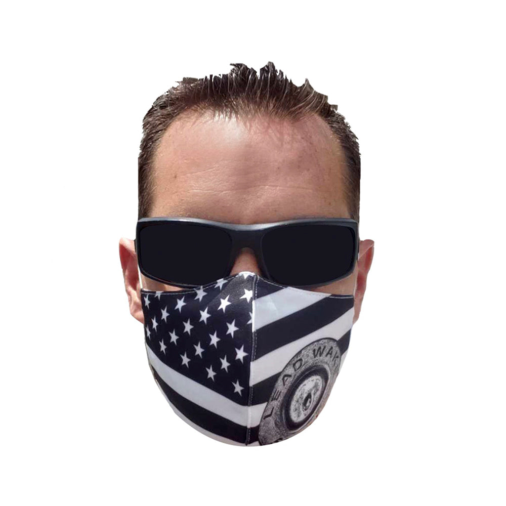 Lead Wake Black White <br> Stars & Stripes Mask