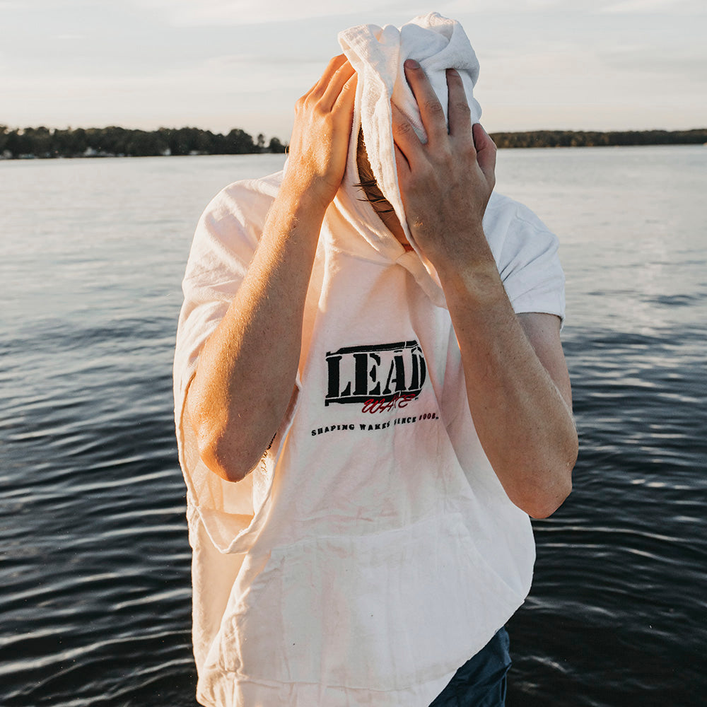 Lead Wake White <br>Towel Poncho