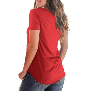 T SHIRT LONG PAS CHER. t shirt long femme col v rouge. TEE SHIRT manches courtes.