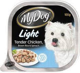 My Dog Light Tender Chicken, Brown Rice & Spinach 100g
