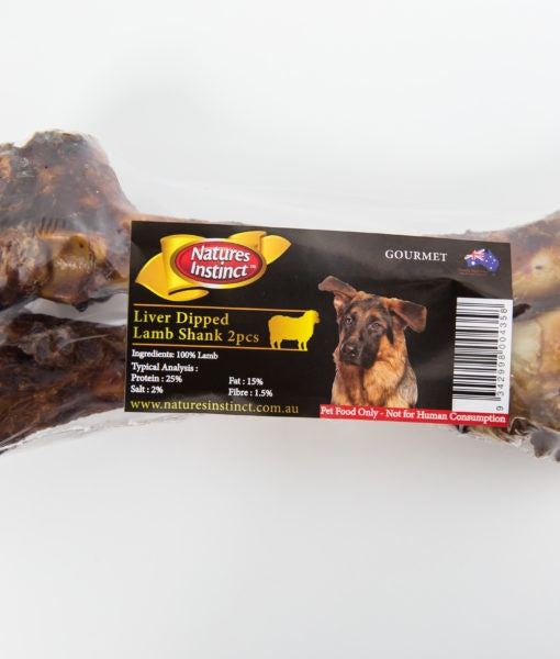 Natures Instinct Liver Dipped Lamb Shank 2pcs