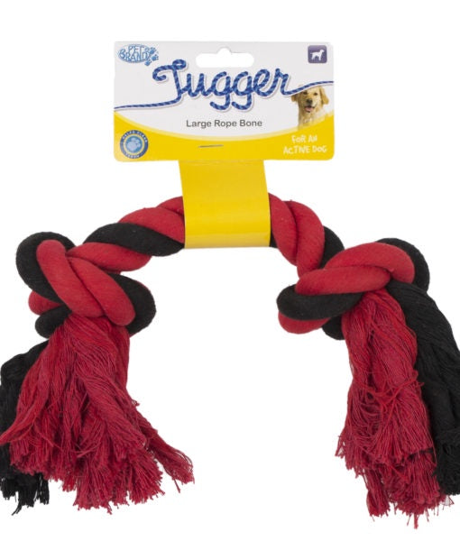 Tugger Rope Bone Multi Colour - Large