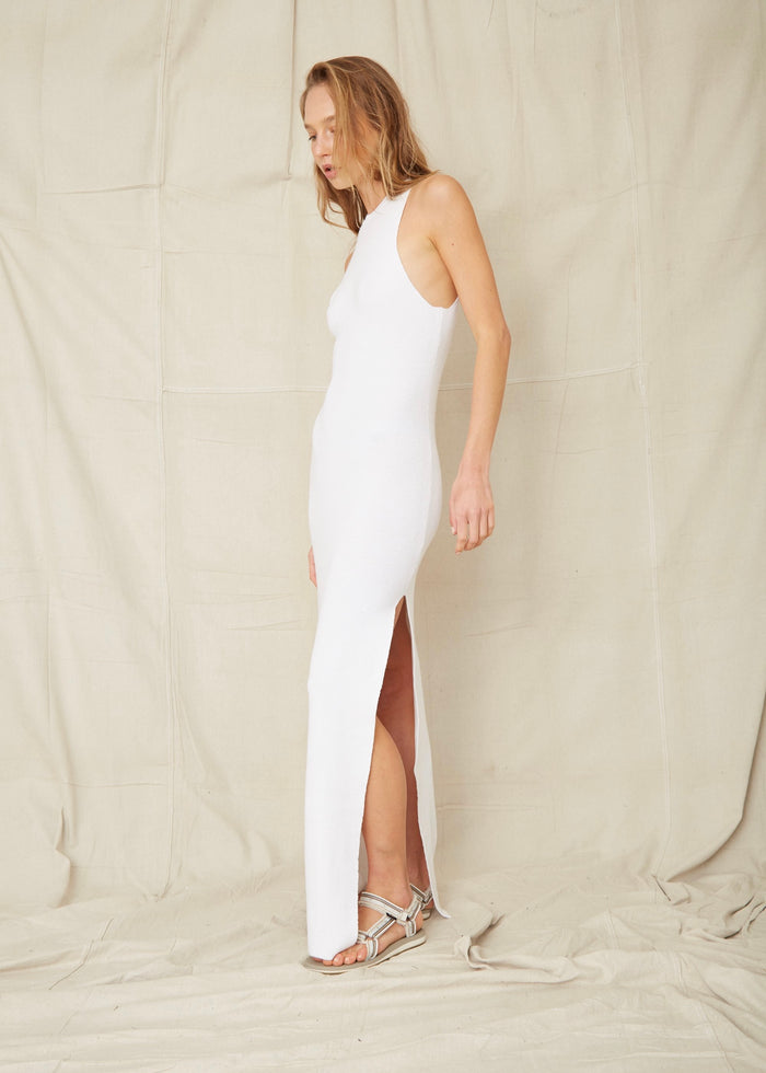 THIRD FORM | CAST AWAY KNIT MAXI TANK DRESS | WHITE