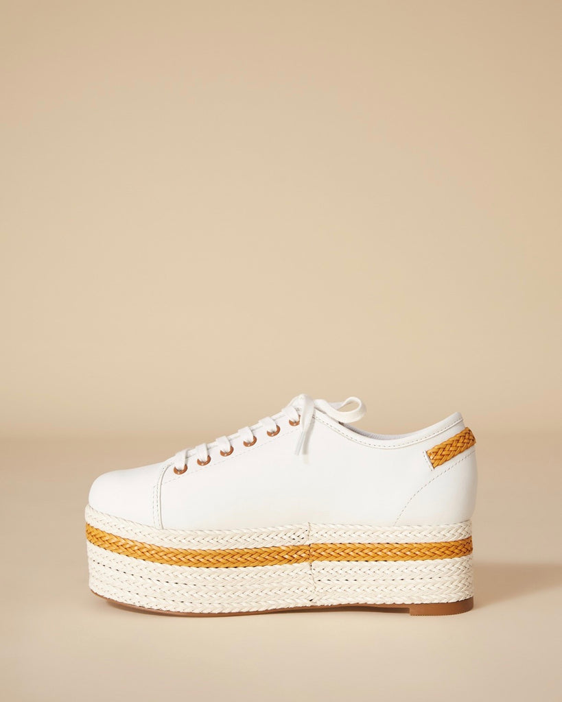 JAGGAR | PROMINENT LEATHER PLATFORM SNEAKER