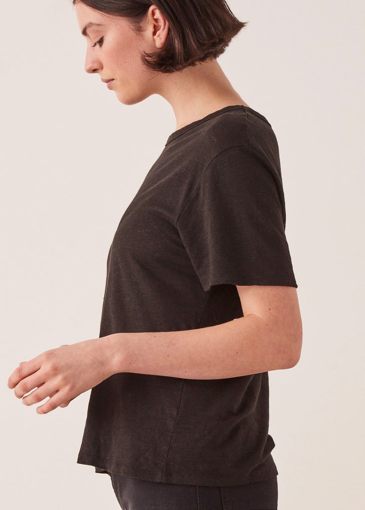 ASSEMBLY LABEL | LINEN TEE BLACK