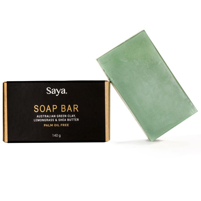 SAYA SKINCARE | SOAP BAR GREEN CLAY & LEMONGRASS