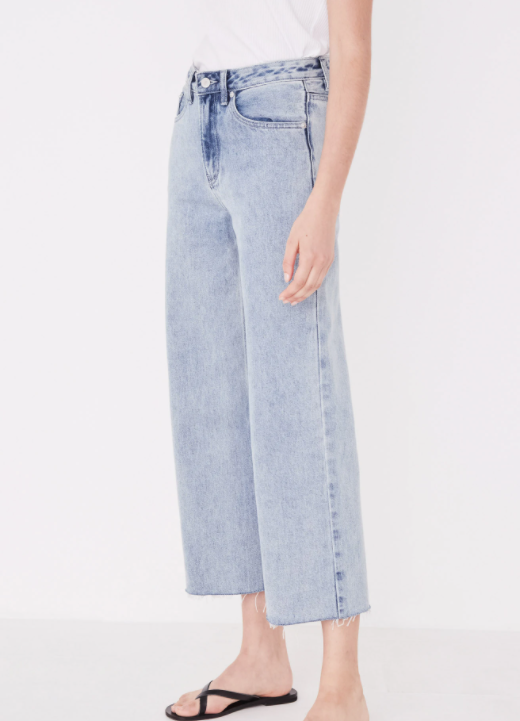 ASSEMBLY LABEL | HIGH WAIST FLARE JEAN STONE BLUE