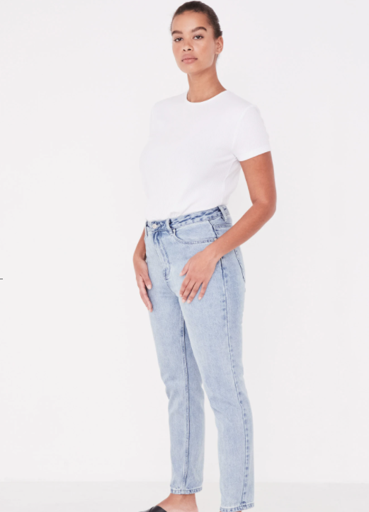 ASSEMBLY LABEL | HIGH WAIST RIGID JEAN STONE BLUE