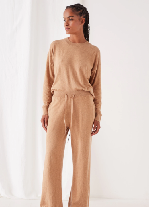 ASSEMBLY LABEL | COTTON CASHMERE WIDE LEG PANTS