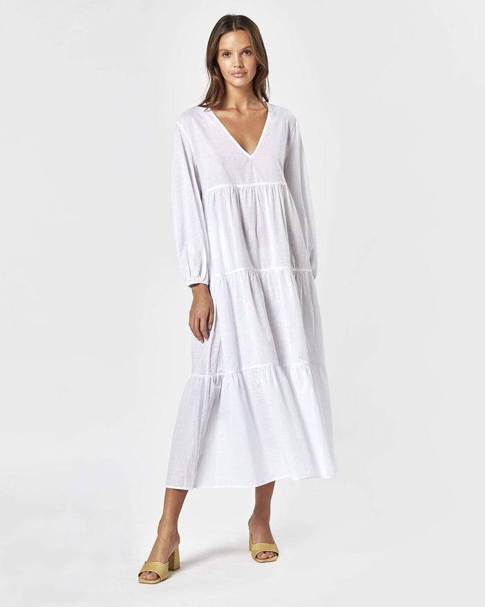 CHARLIE HOLIDAY | SEASIDE MAXI DRESS WHITE