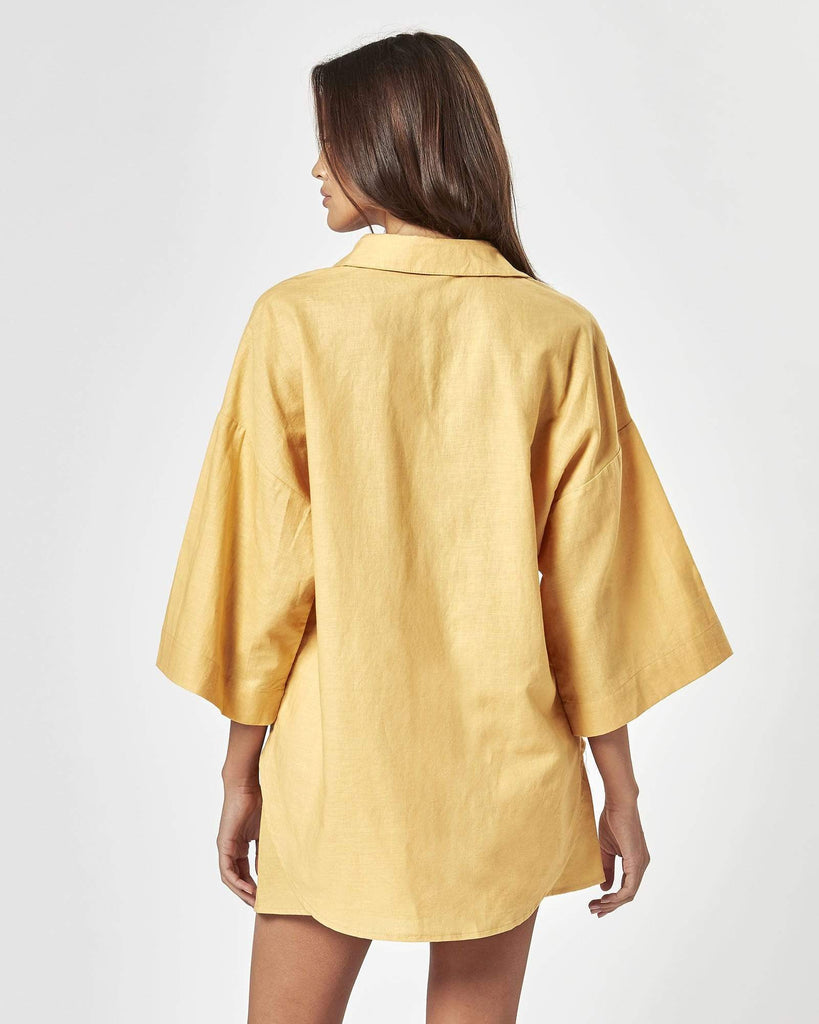 CHARLIE HOLIDAY | HARLOW OVERSIZED SHIRT BUTTERMILK