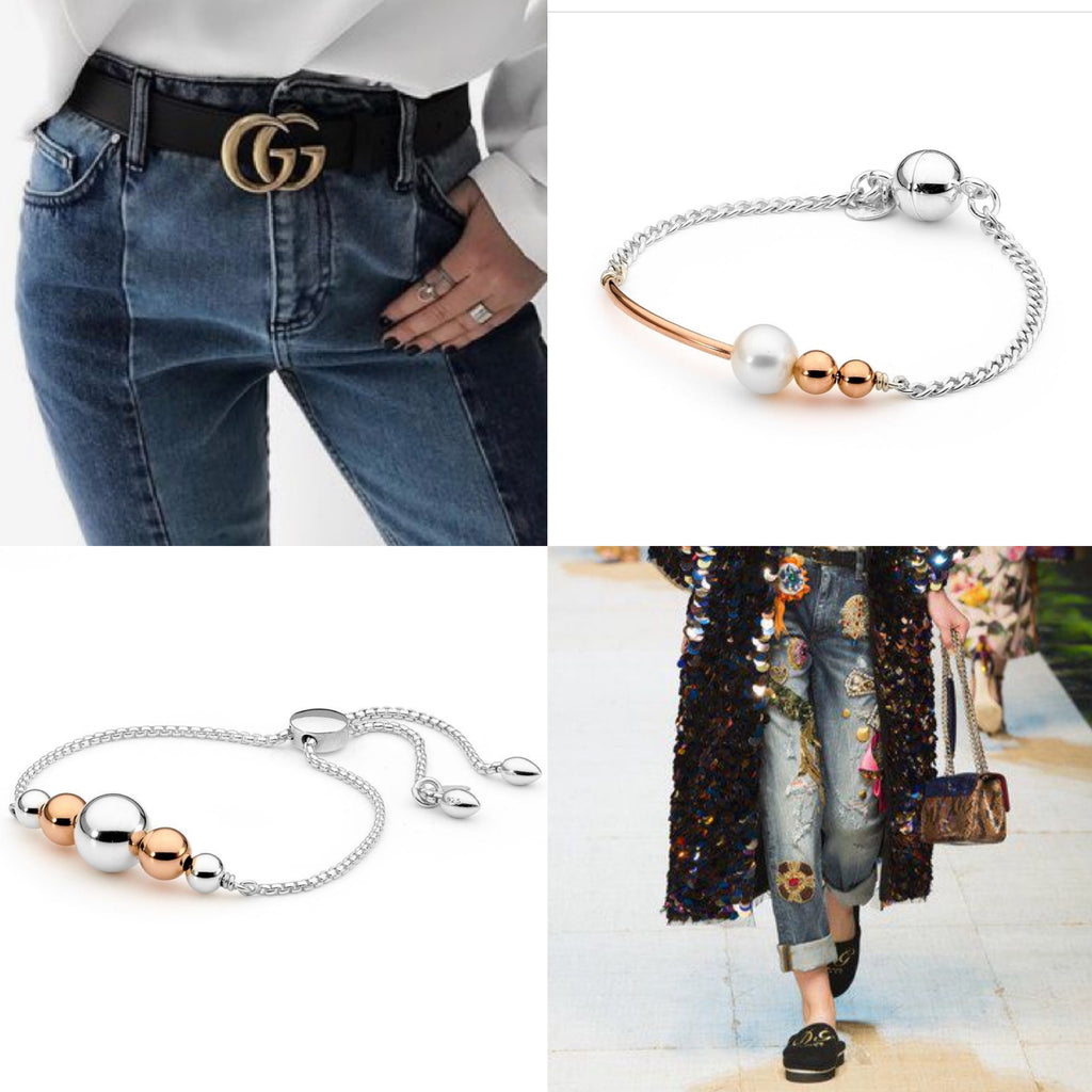 Jeans trends for summer 2017 with Leoni & Vonk bracelets