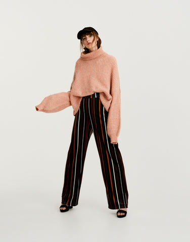 Pull & Bear oversized roll neck jumper