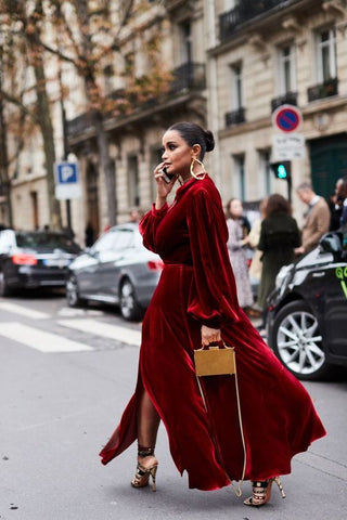 Luxe velvet red coat