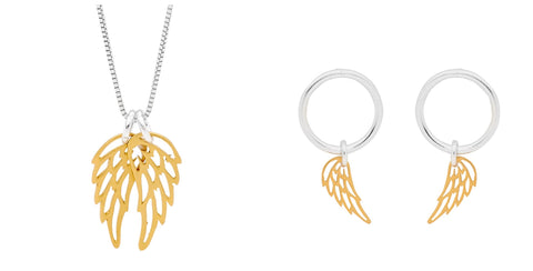Leoni & Vonk sterling silver gold wings jewellery