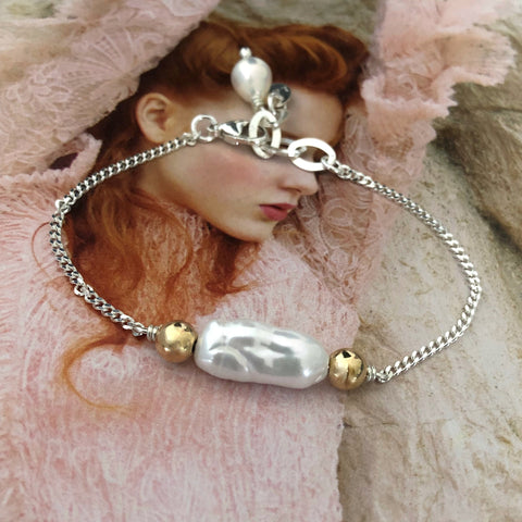 Leoni & Vonk One of a kind pearl bracelet