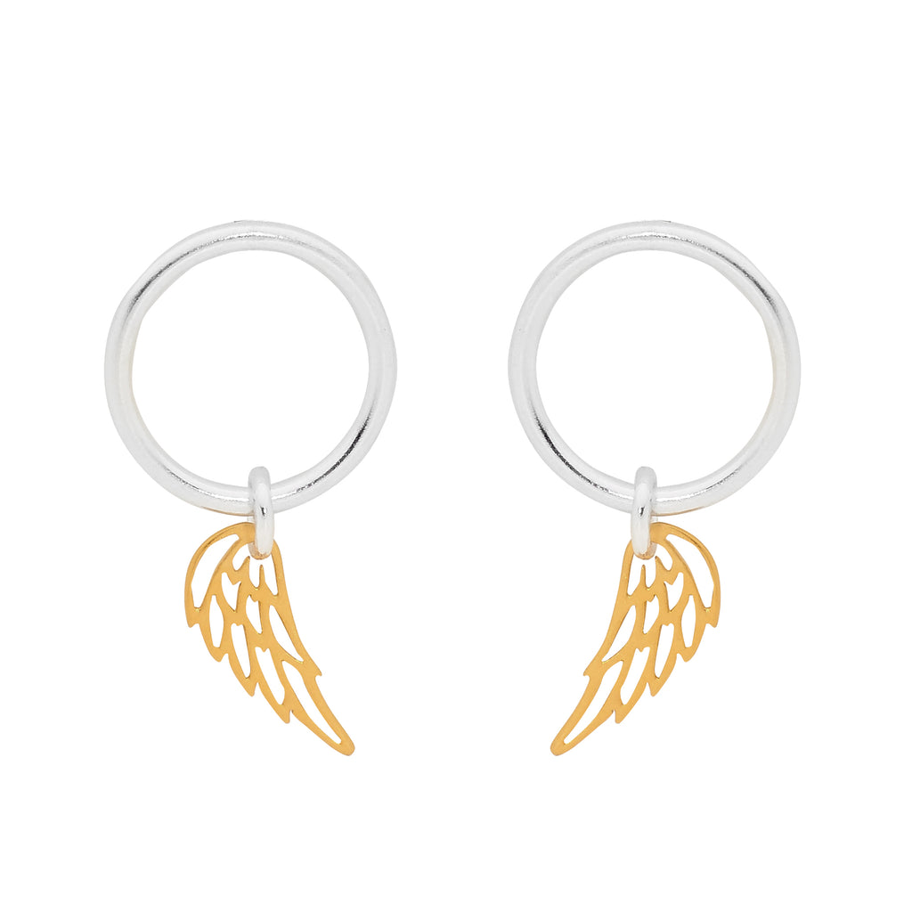 Gold Winged Spirit Earrings