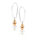 Leoni & Vonk Grace pearl and gold fill teardrop hoops photographed against a white background