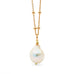 Leoni & Vonk baroque freshwater pearl on a rose gold chain