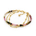Leoni  Vonk tourmaline layered bracelet photographed against a white background