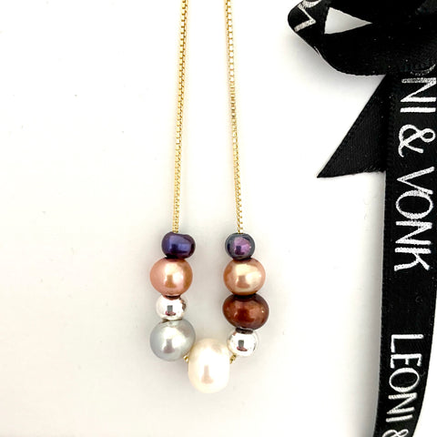 Dusk Pearl Gold Necklace