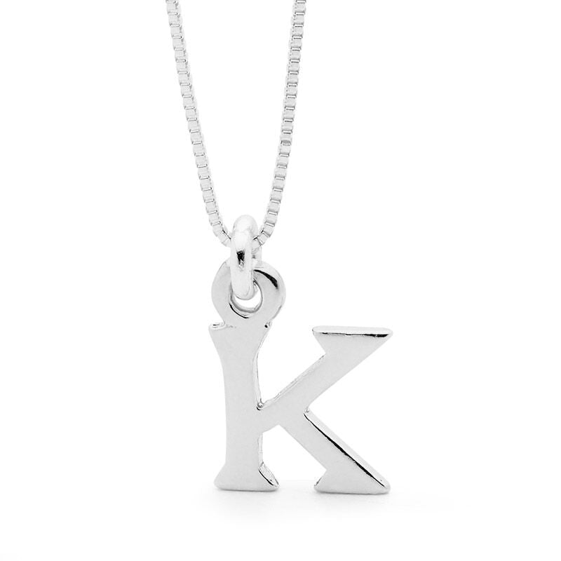 Leoni  Vonk sterling silver initial necklace