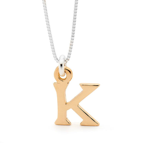 Leoni & Vonk 9ct yellow gold initial necklace