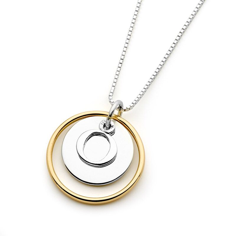 Leoni & Vonk yellow gold Eclipse initial necklace