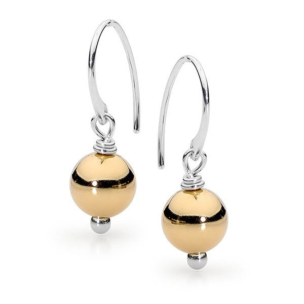 Leoni & Vonk Gold Fill ball earring on sterling silver hook.