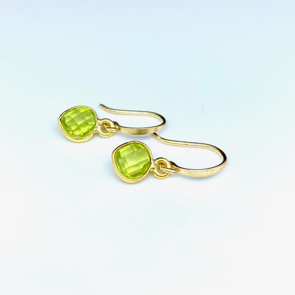 Leoni & Vonk green amethyst heart earrings
