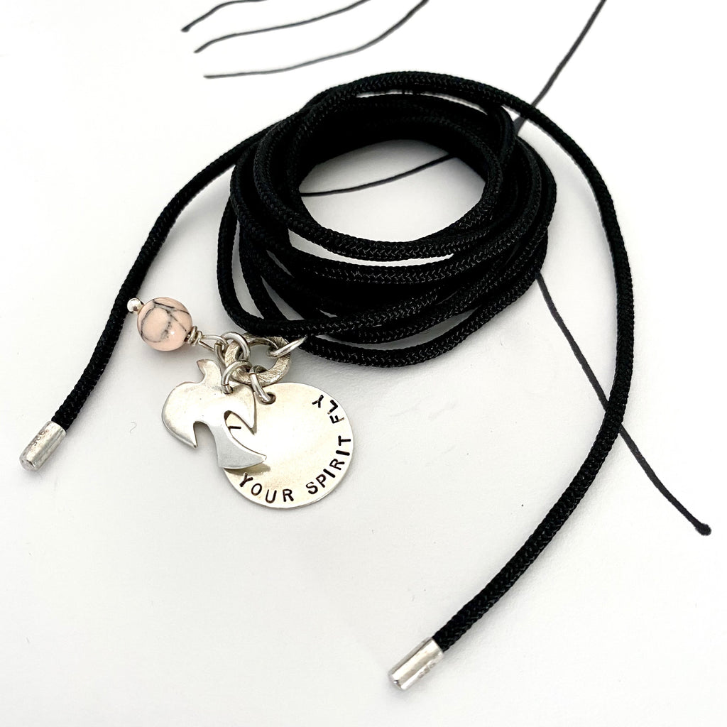 Leoni & Vonk and Greeves St Project wrap cord necklace