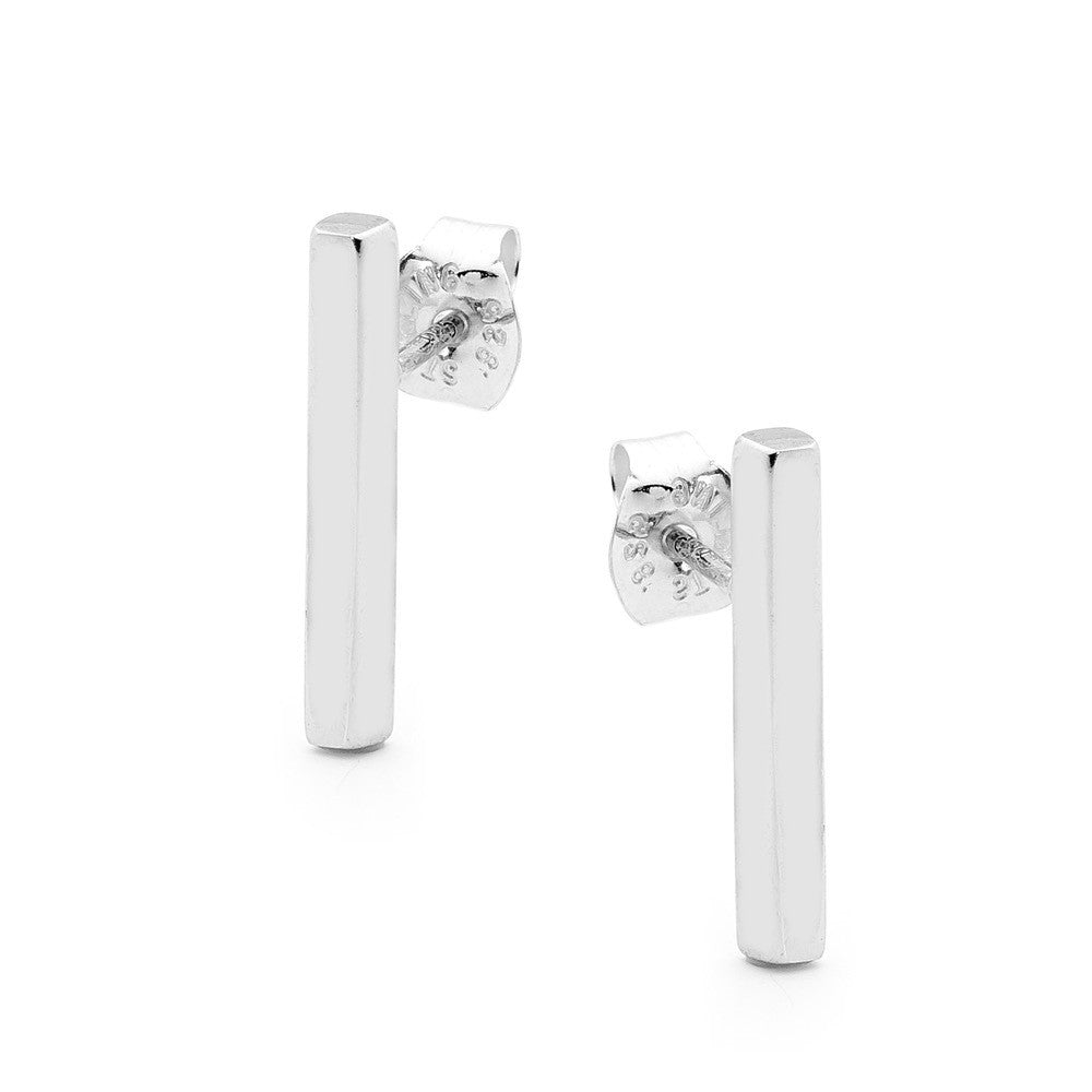 Leoni & Vonk sterling silver bar stud earring