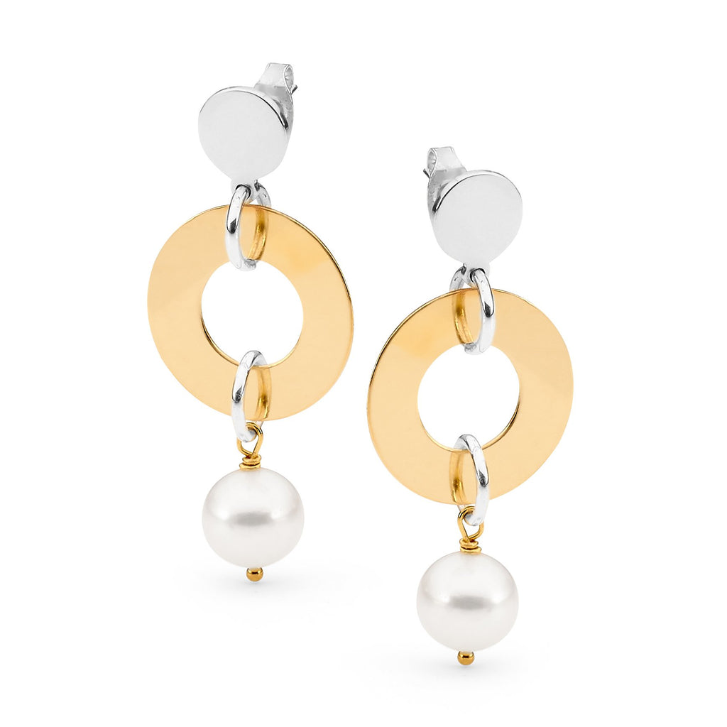 Leoni & Vonk Sophie sterling silver, gold and pearl earring