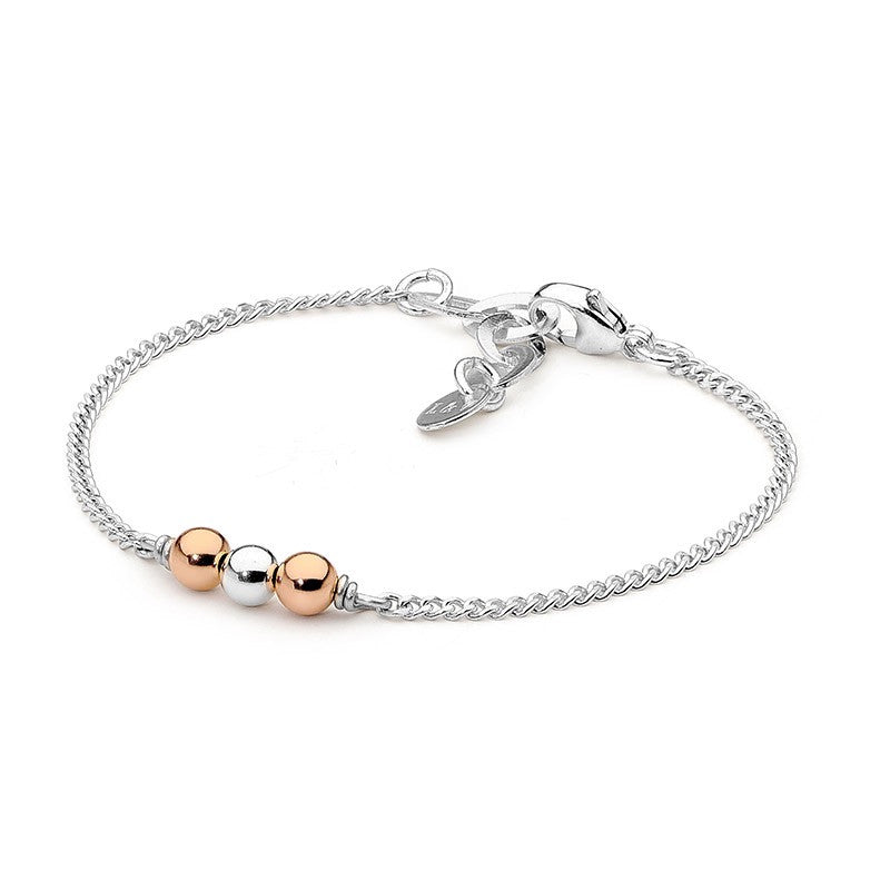 Leoni & Vonk Sterling silver and 14kt rose gold fill fine bracelet.