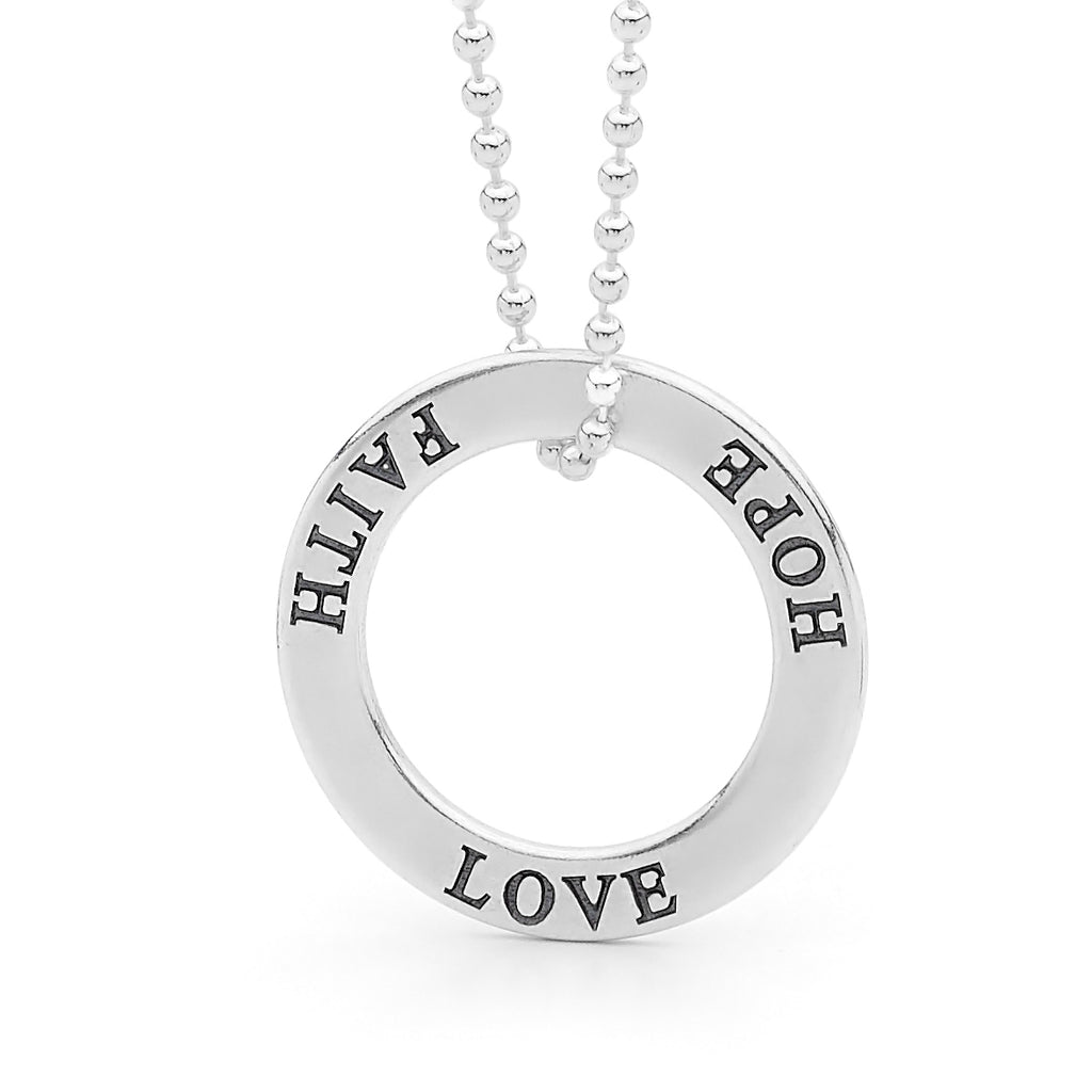 Sterling Silver Affirmation Ring Pendant