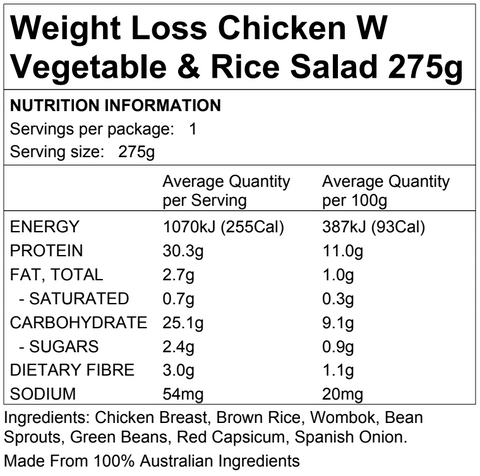 Weight Loss Chicken Vegetable Rice Salad 9.2.275
