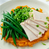Muscle Gain Roast Turkey, Greens + Sweet Potato Mash