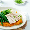 Roast Turkey, Greens + Sweet Potato Mash