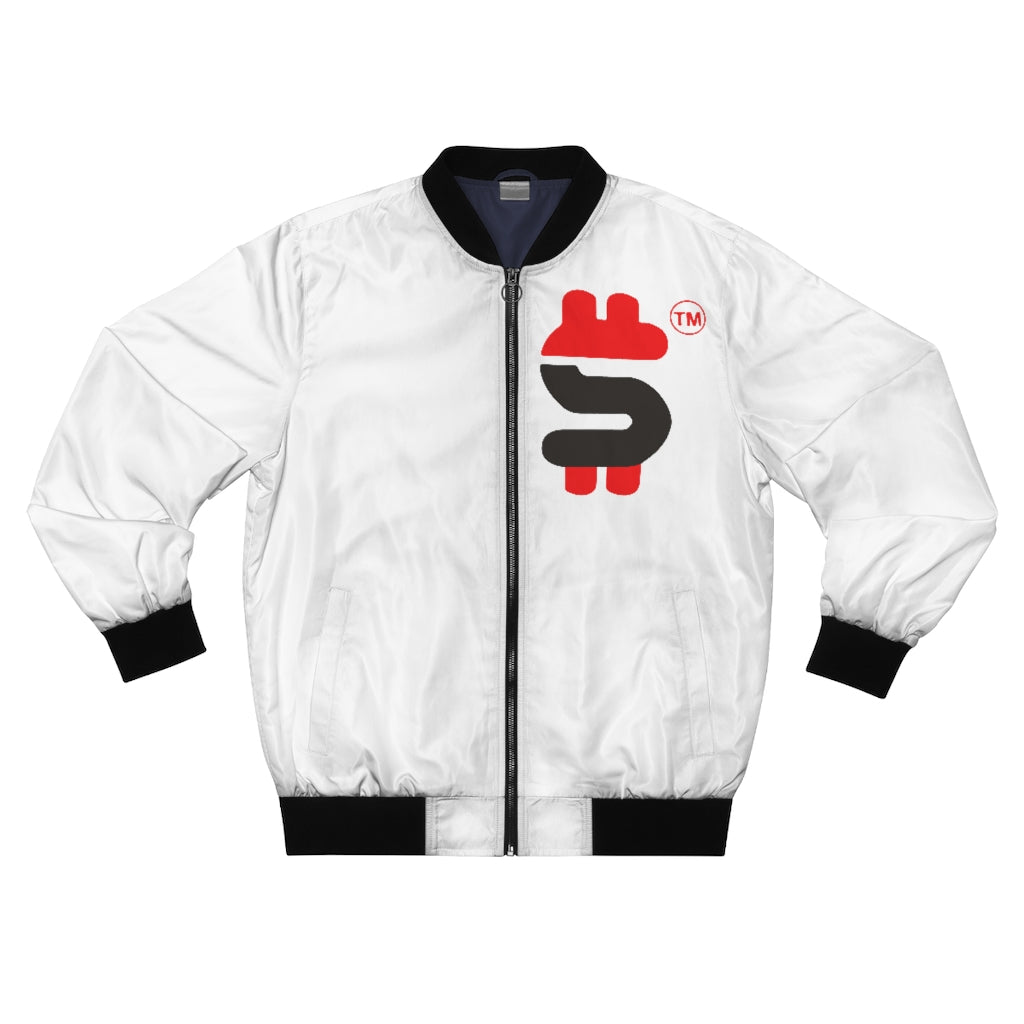 MEN'S DOLLA SIGN AOP BOMBER JACKET