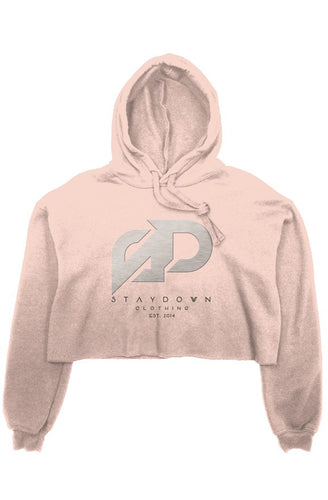 LADIES METAL SD DESIGN CROP TOP HOODIE