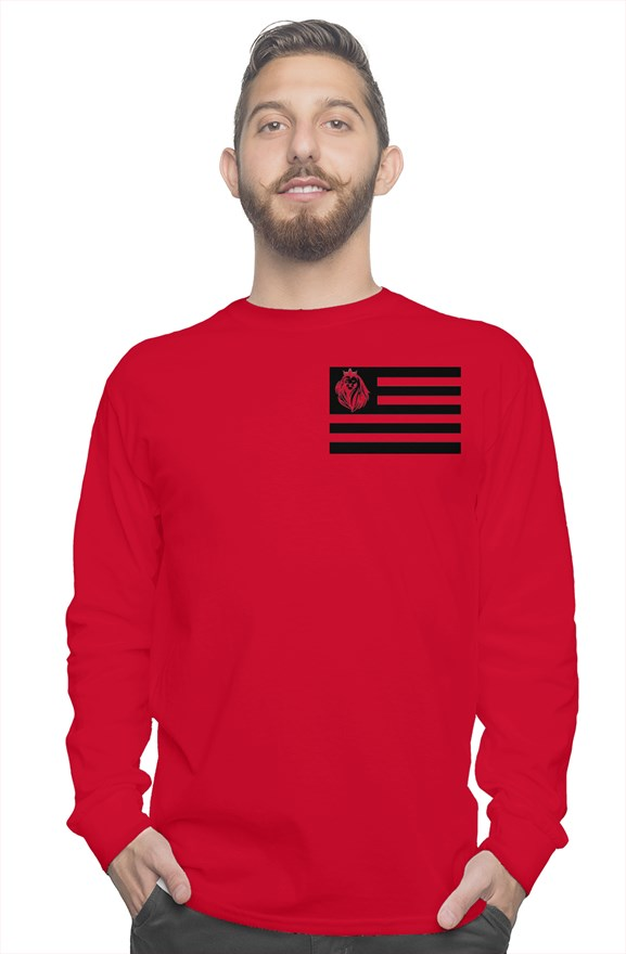 MENS LION LONG SLEEVE T-SHIRT